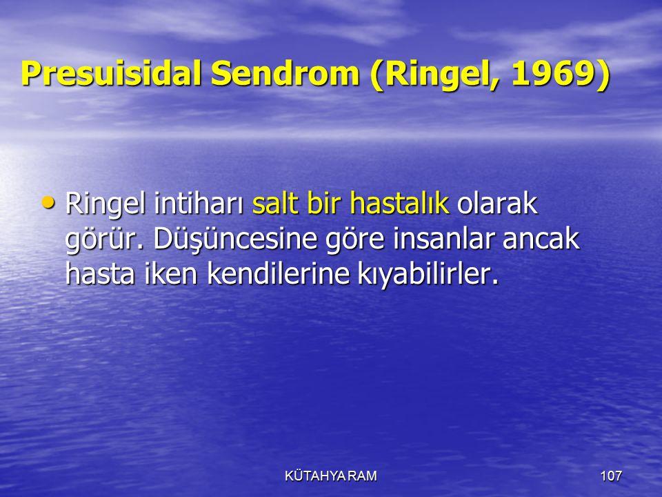 Presuisidal Sendrom (Ringel, 1969)