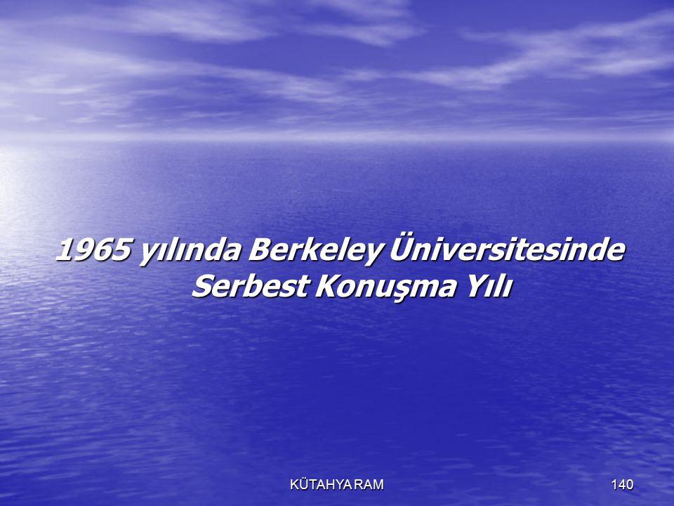 1965 yılında Berkeley Üniversitesinde Serbest Konuşma Yılı