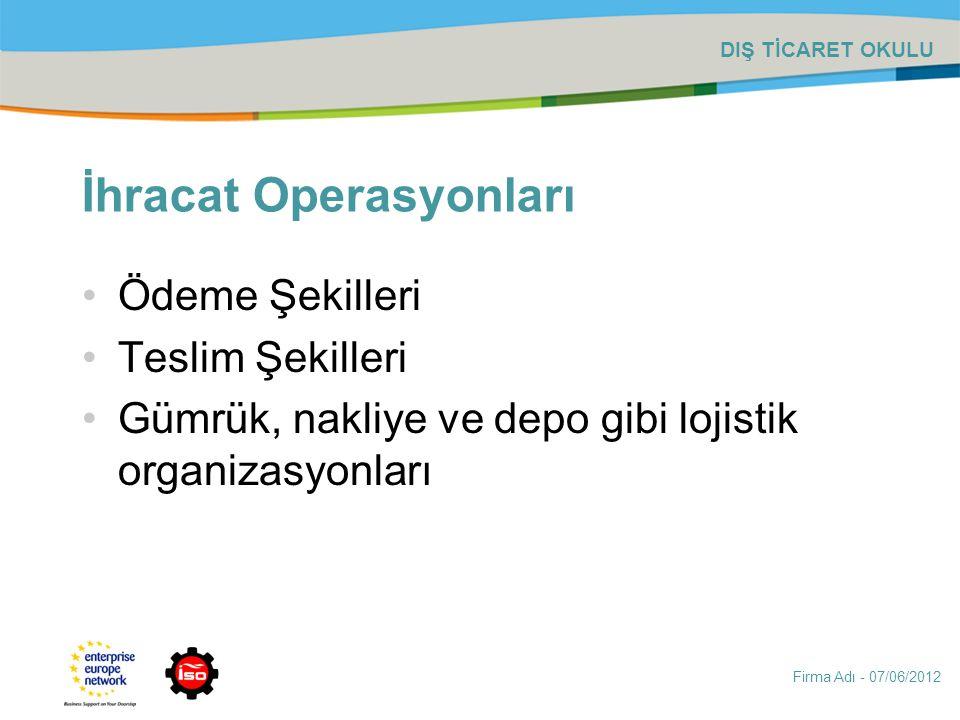 İhracat Operasyonları