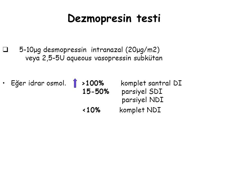 Dezmopresin testi <10% komplet NDI