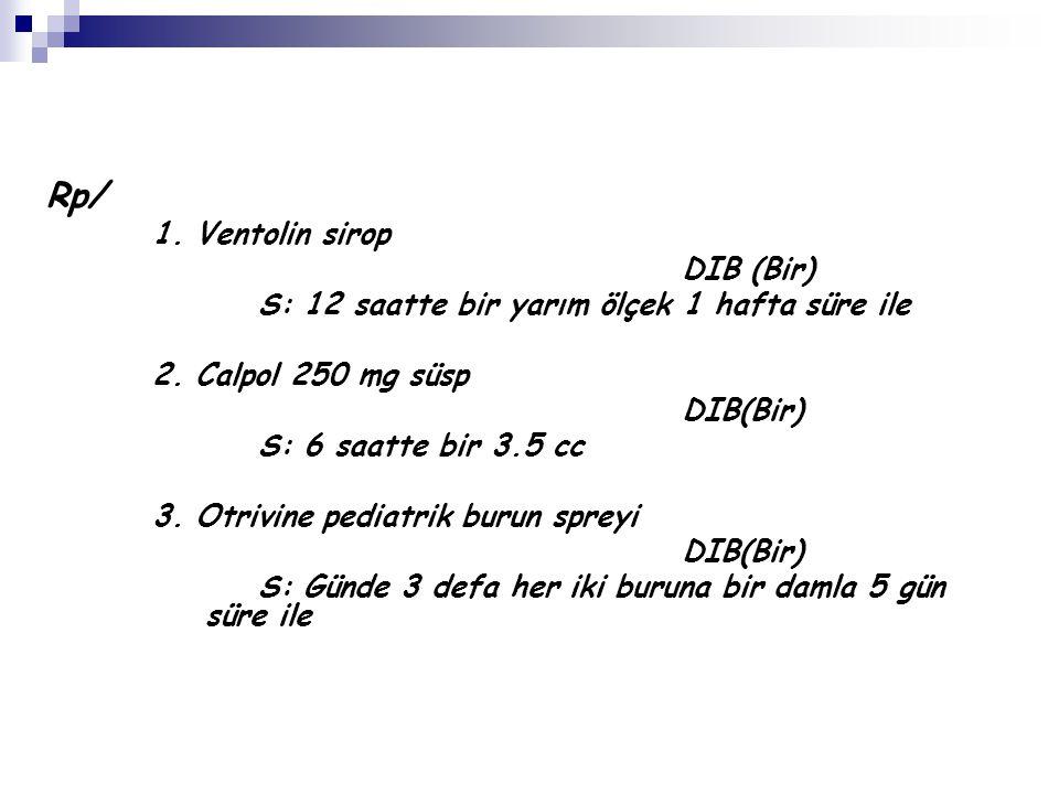 Rp/ 1. Ventolin sirop DIB (Bir)