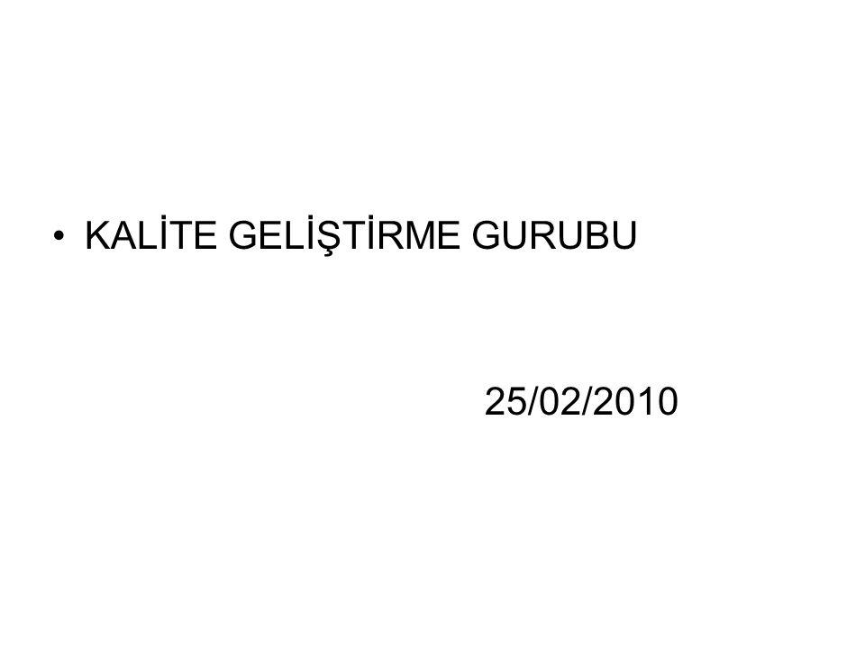 KALİTE GELİŞTİRME GURUBU