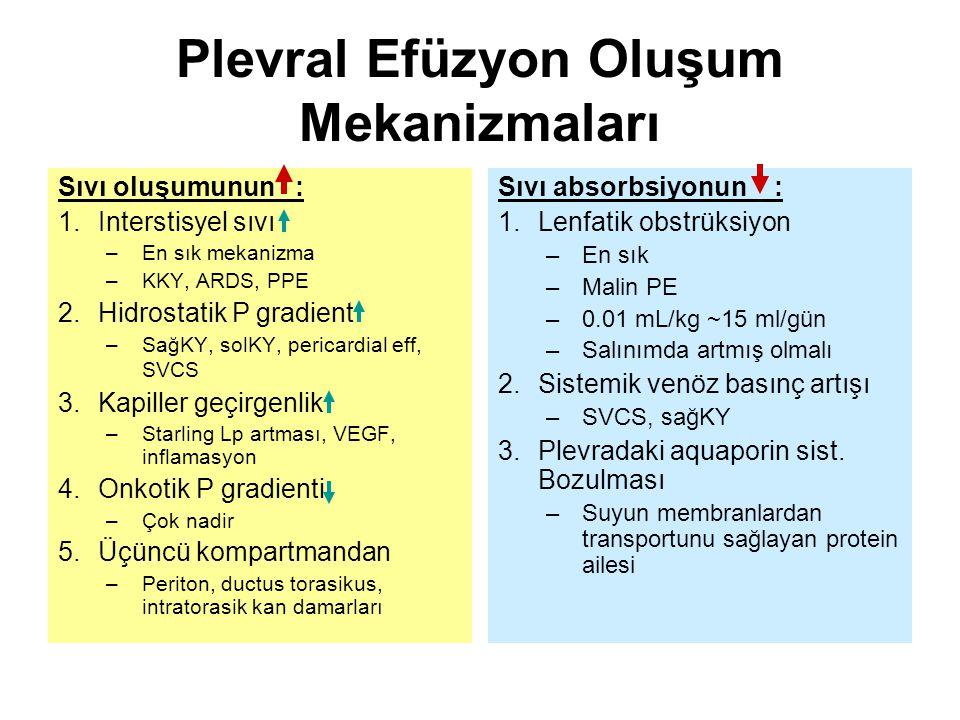 Plevral Efüzyon Oluşum Mekanizmaları