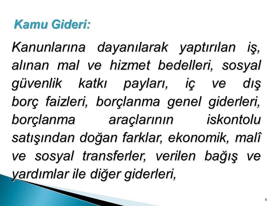 Kamu Gideri: