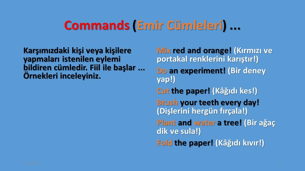 Commands (Emir Cümleleri) ...