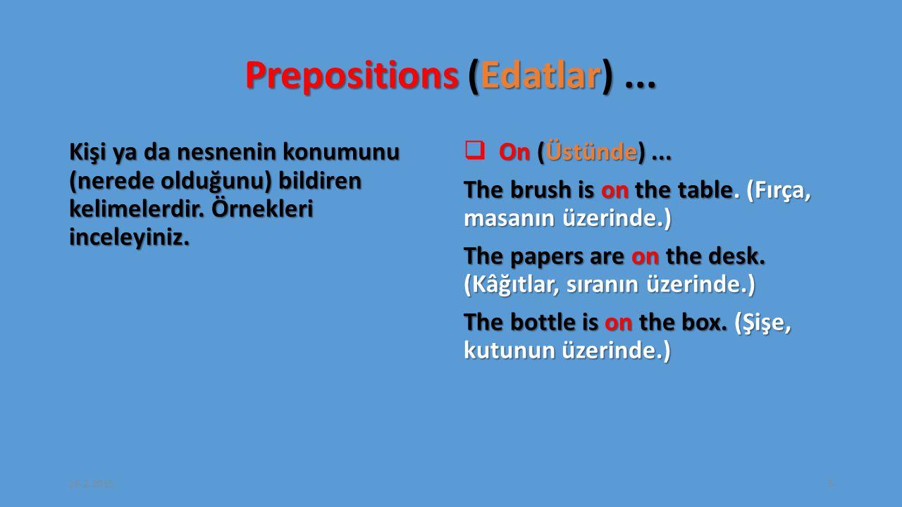 Prepositions (Edatlar) ...