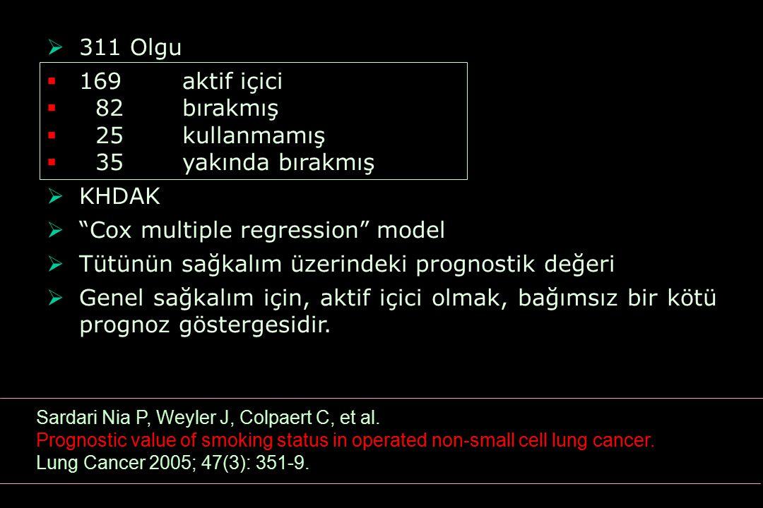Cox multiple regression model