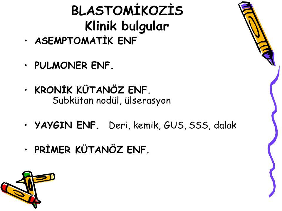 BLASTOMİKOZİS Klinik bulgular