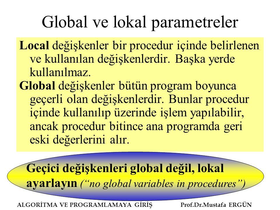 Global ve lokal parametreler