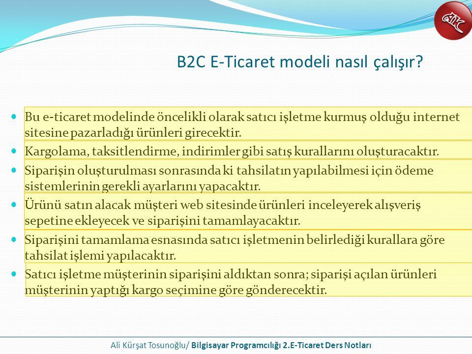 B2C E-Ticaret modeli nasıl çalışır