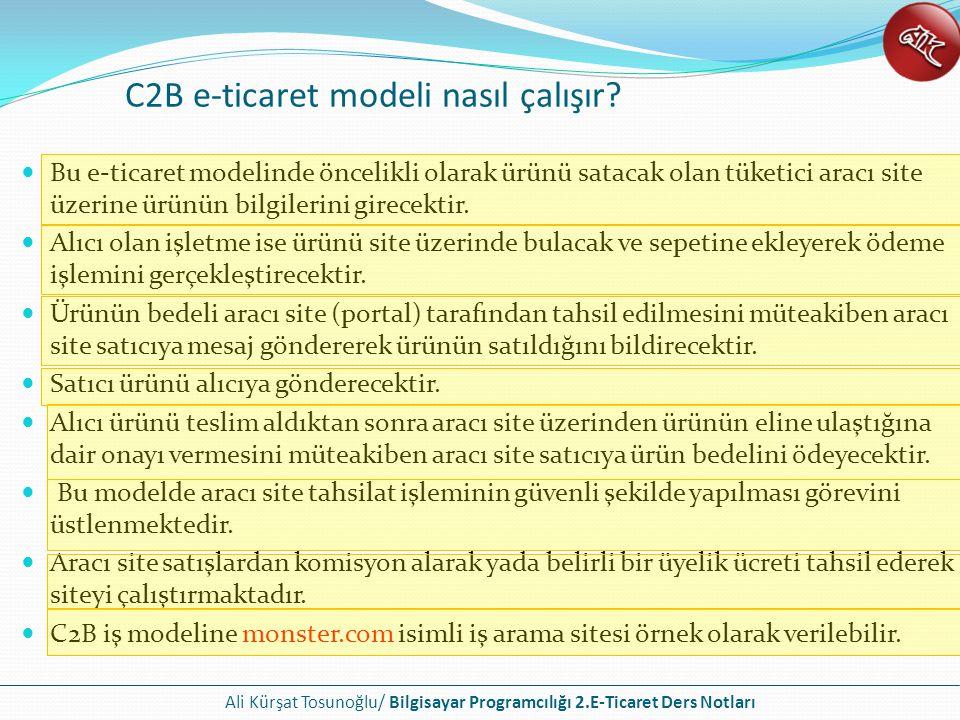 C2B e-ticaret modeli nasıl çalışır