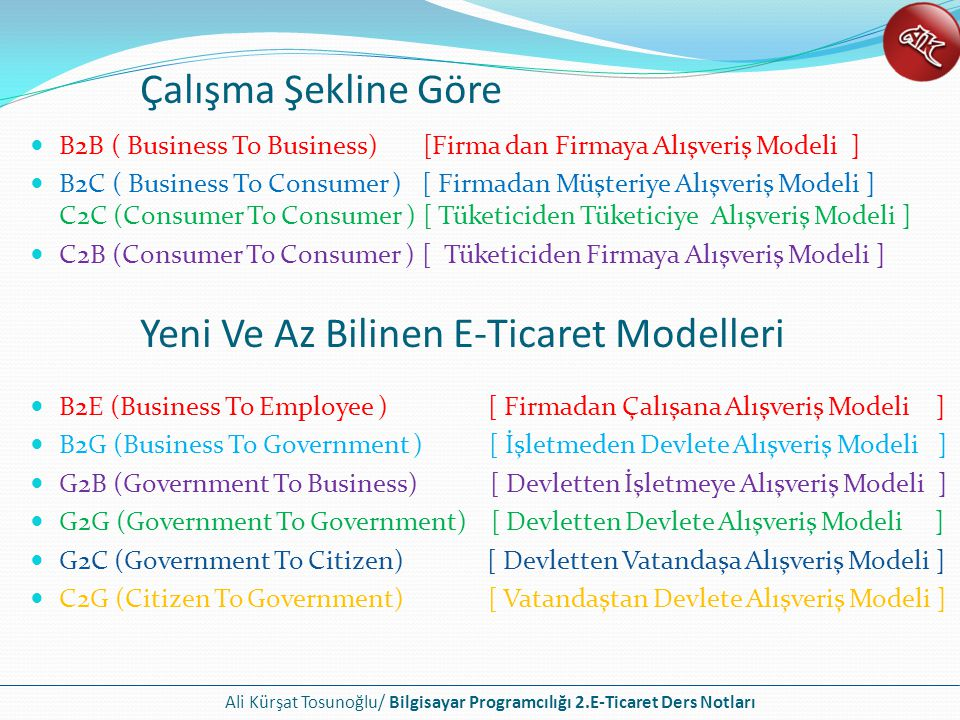 Yeni Ve Az Bilinen E-Ticaret Modelleri