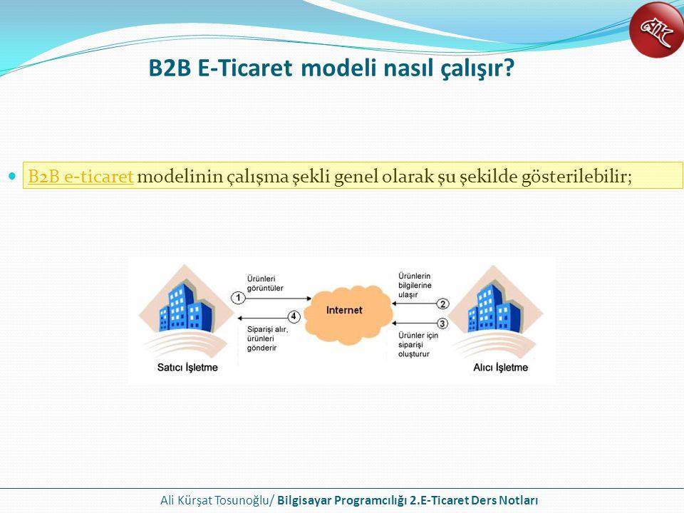 B2B E-Ticaret modeli nasıl çalışır