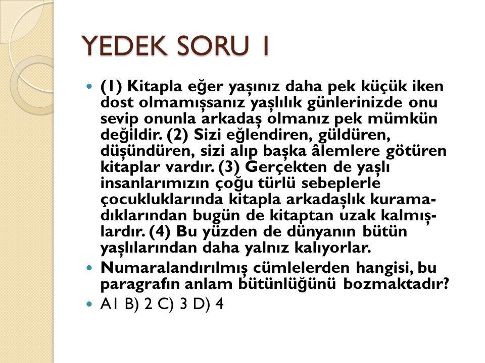 YEDEK SORU 1