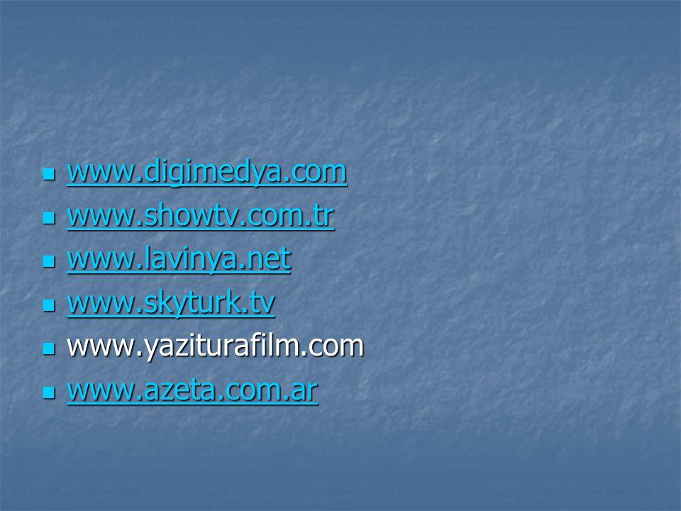 www.digimedya.com www.showtv.com.tr. www.lavinya.net.