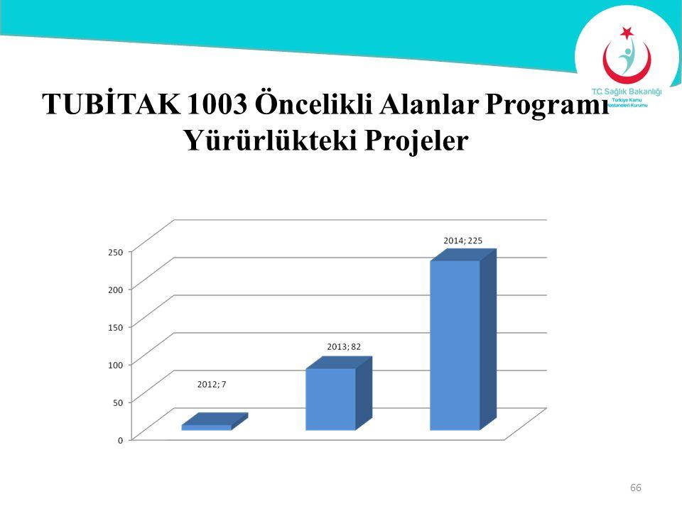 TUBİTAK 1003 Öncelikli Alanlar Programı Yürürlükteki Projeler