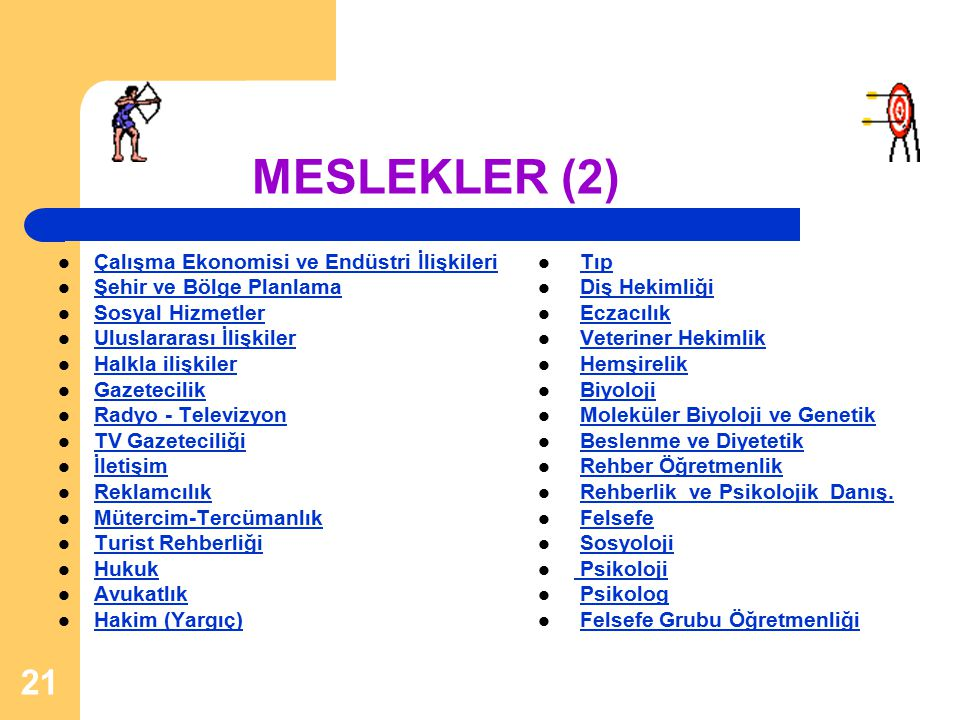 MESLEKLER (2) Çalışma Ekonomisi ve Endüstri İlişkileri