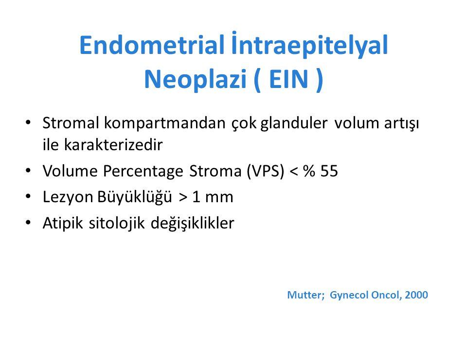 Endometrial İntraepitelyal Neoplazi ( EIN )