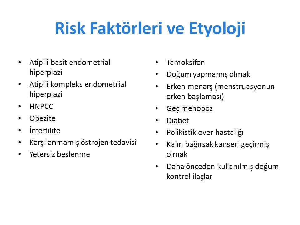 Risk Faktörleri ve Etyoloji