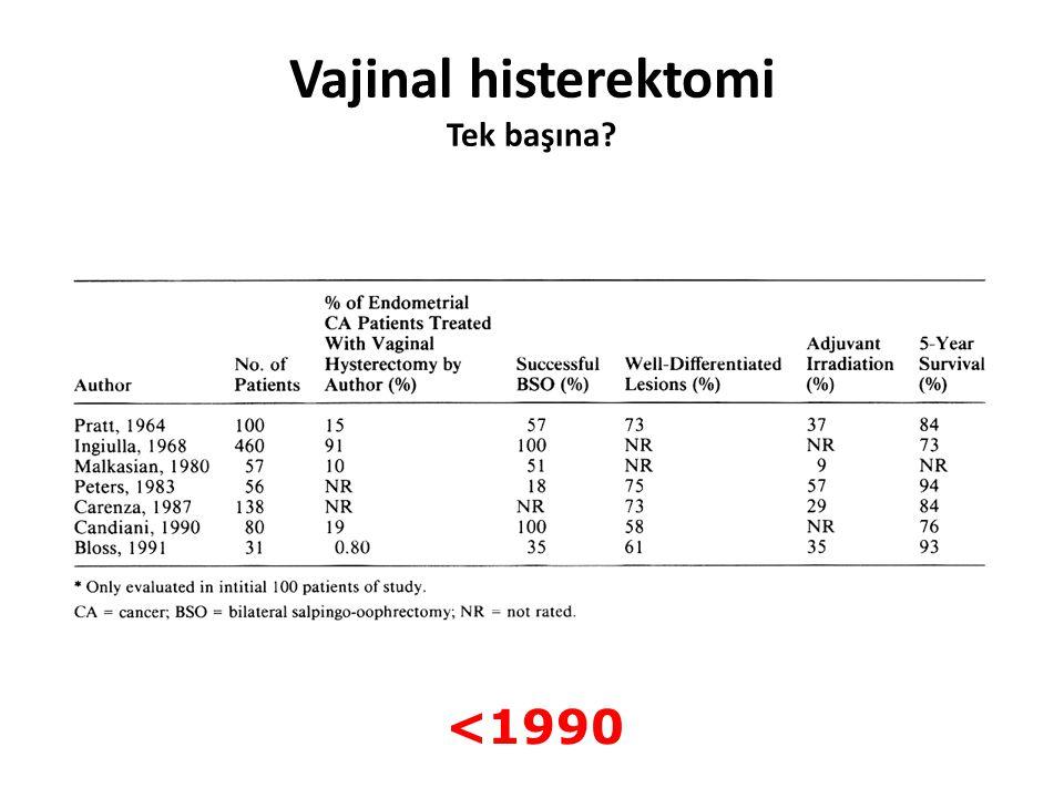 Vajinal histerektomi Tek başına