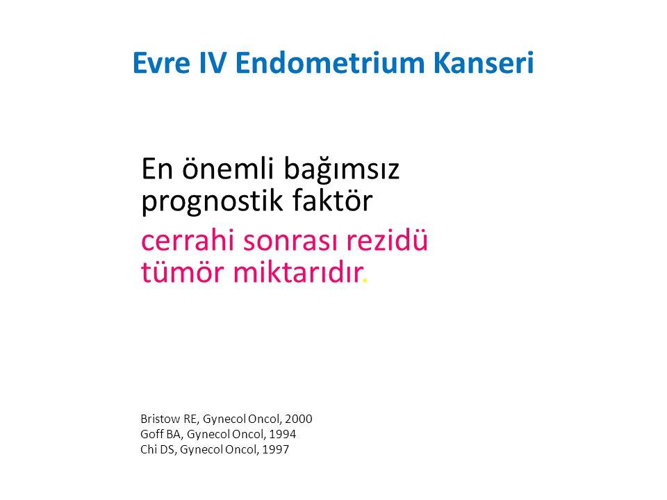 Evre IV Endometrium Kanseri