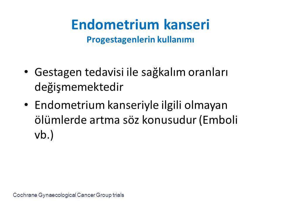 Endometrium kanseri Progestagenlerin kullanımı