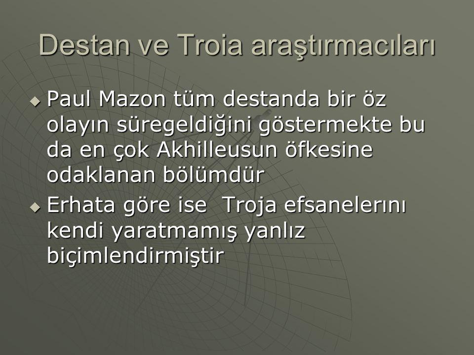 Destan ve Troia araştırmacıları