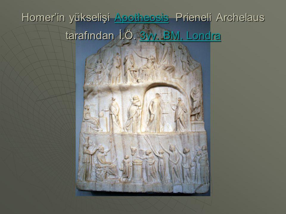 Homer'in yükselişi Apotheosis Prieneli Archelaus tarafından İ. Ö. 3yy