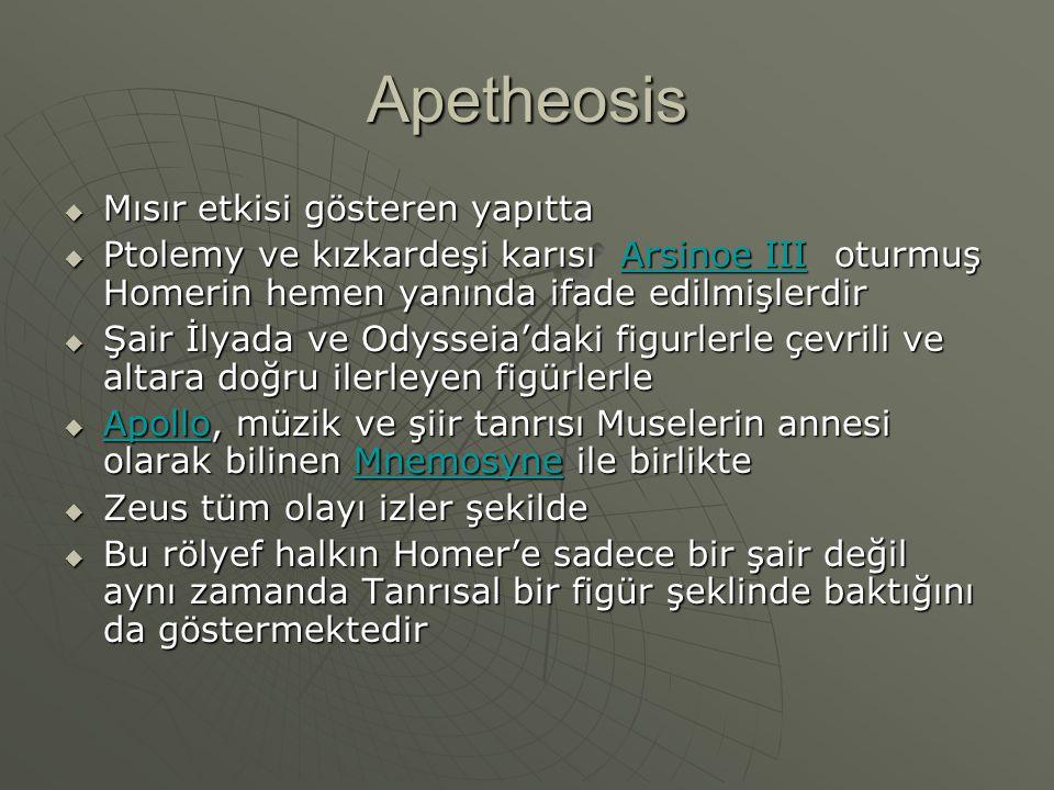 Apetheosis Mısır etkisi gösteren yapıtta