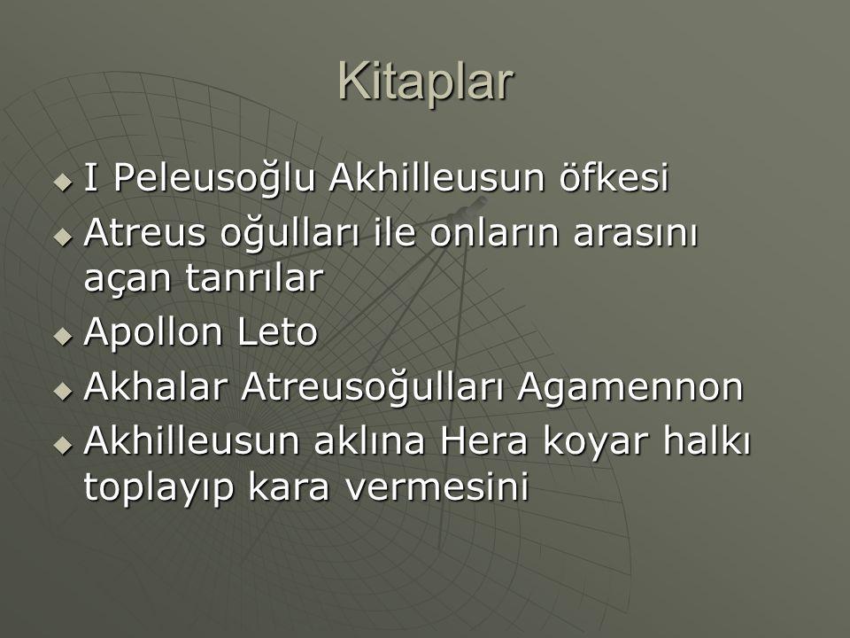 Kitaplar I Peleusoğlu Akhilleusun öfkesi