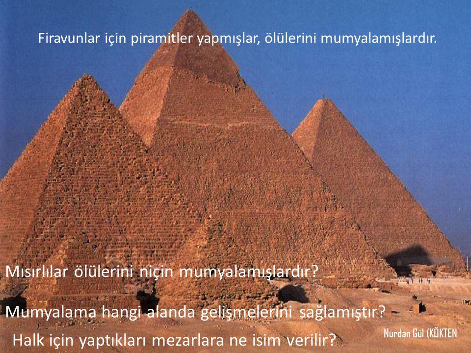 Mısırlılar ölülerini niçin mumyalamışlardır