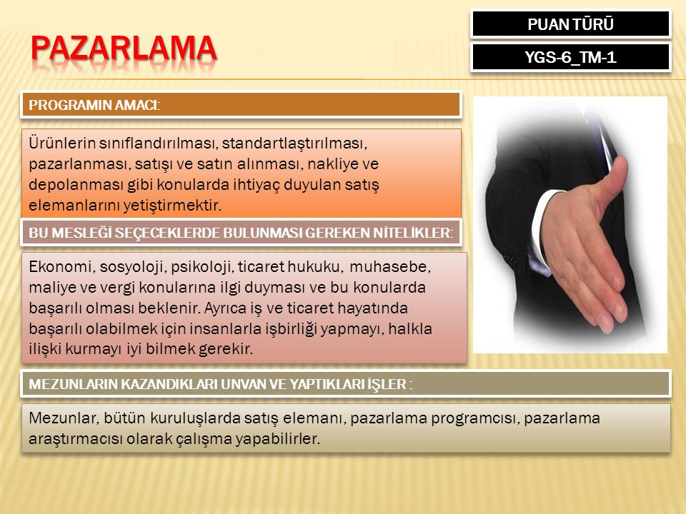 PAZARLAMA PUAN TÜRÜ YGS-6_TM-1