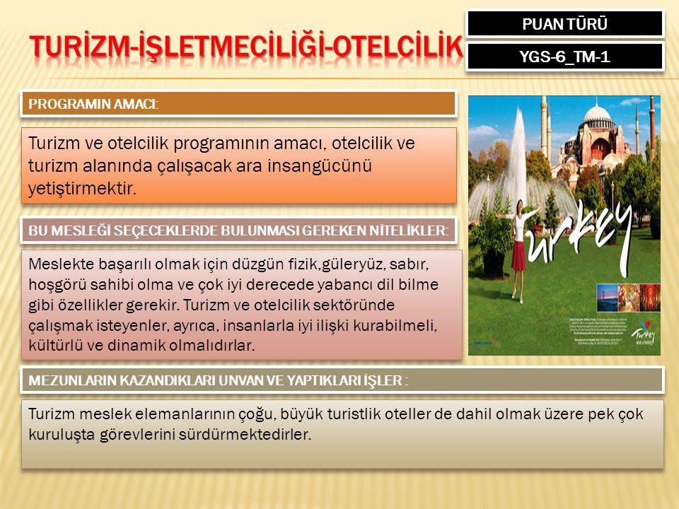 TURİZM-İŞLETMECİLİĞİ-OTELCİLİK