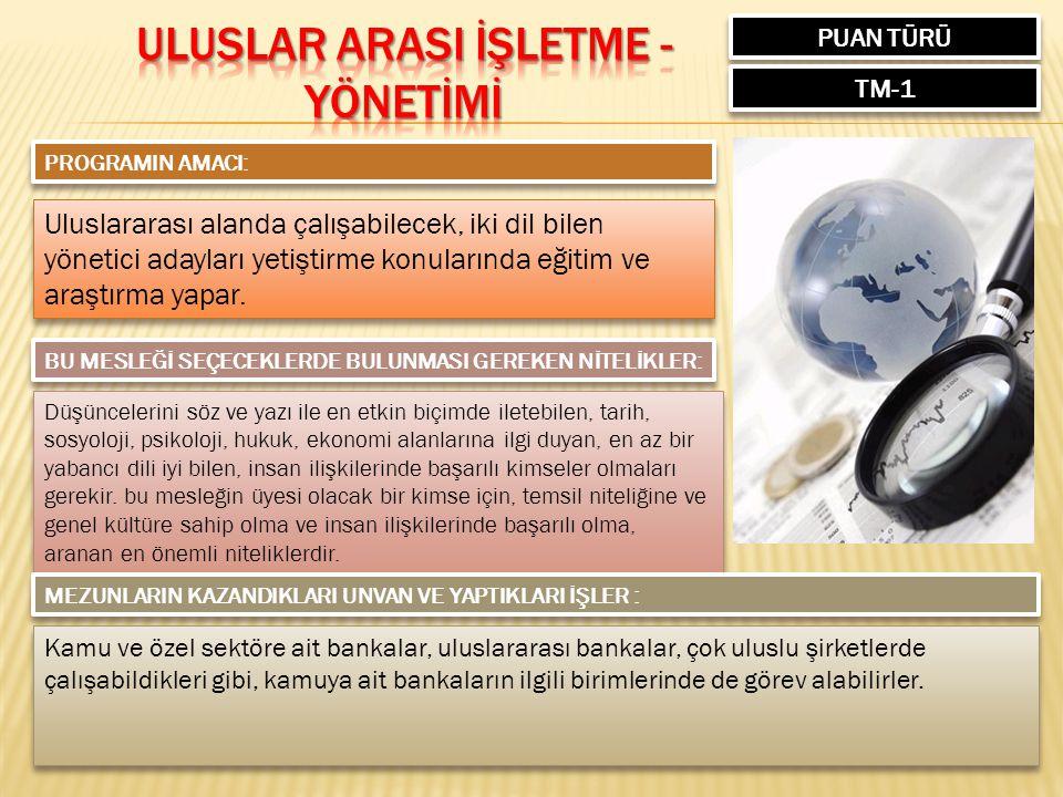 ULUSLAR ARASI İŞLETME -YÖNETİMİ