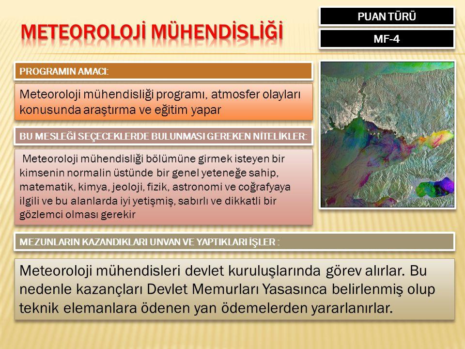 METEOROLOJİ MÜHENDİSLİĞİ