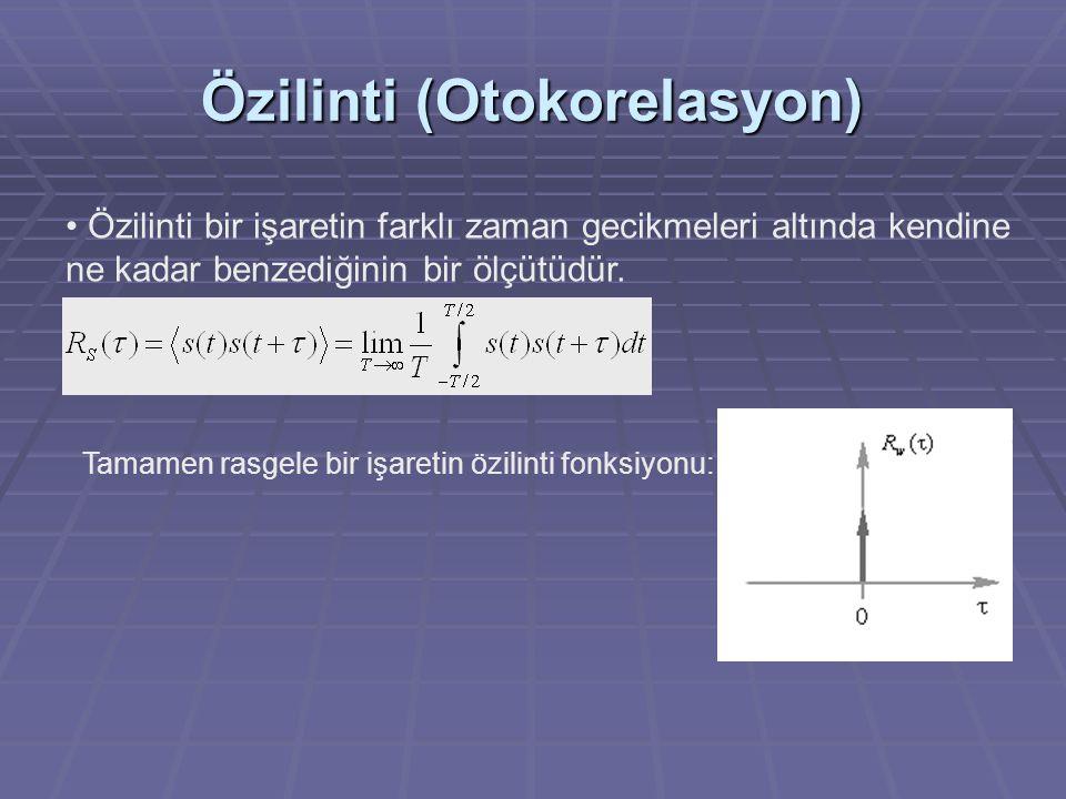 Özilinti (Otokorelasyon)