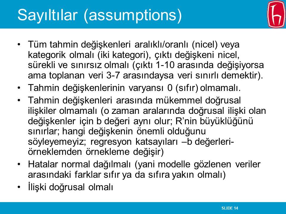 Sayıltılar (assumptions)