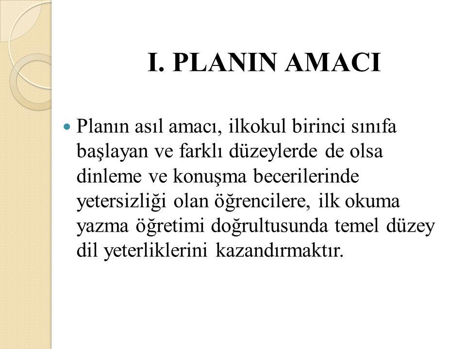 I. PLANIN AMACI