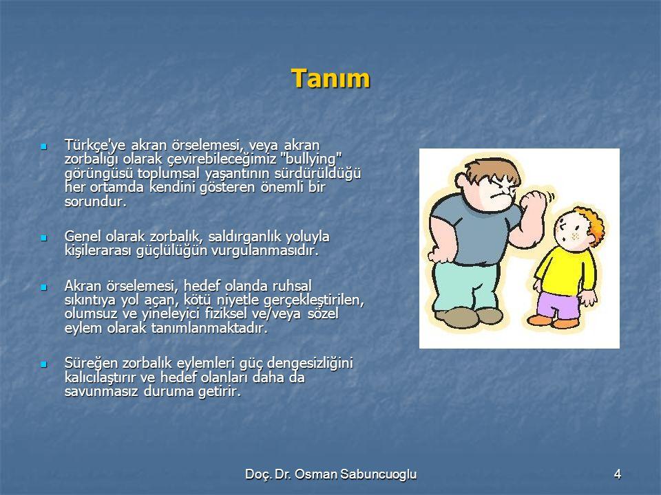 Doç. Dr. Osman Sabuncuoglu