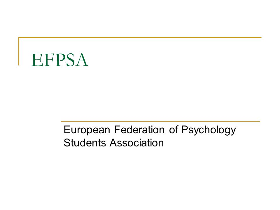 European Federation of Psychology Students Association
