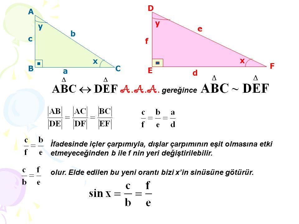 A.A.A. gereğince D A y y e b c f x x F B C a E d