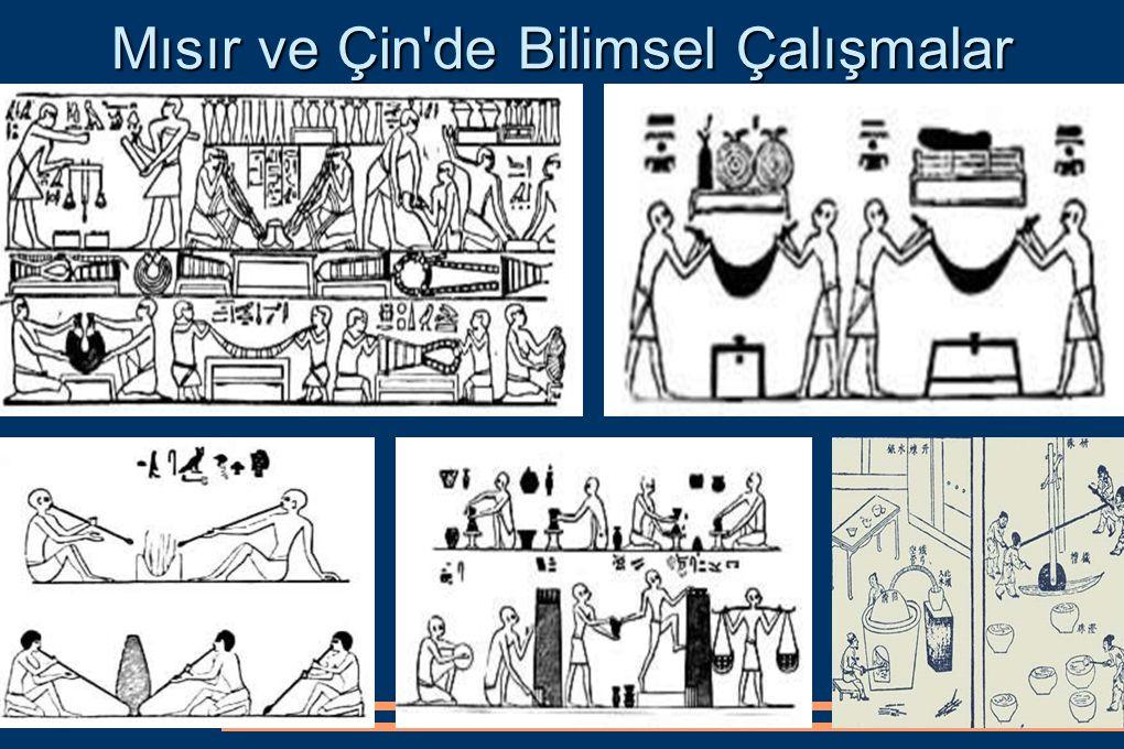 Mısır ve Çin de Bilimsel Çalışmalar