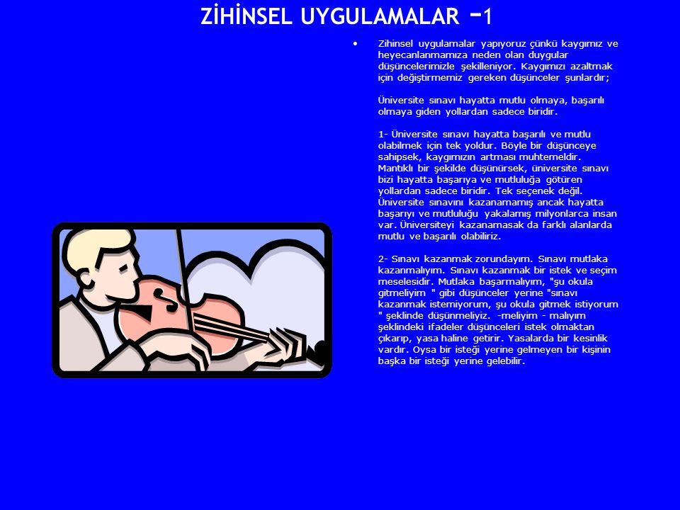 ZİHİNSEL UYGULAMALAR -1