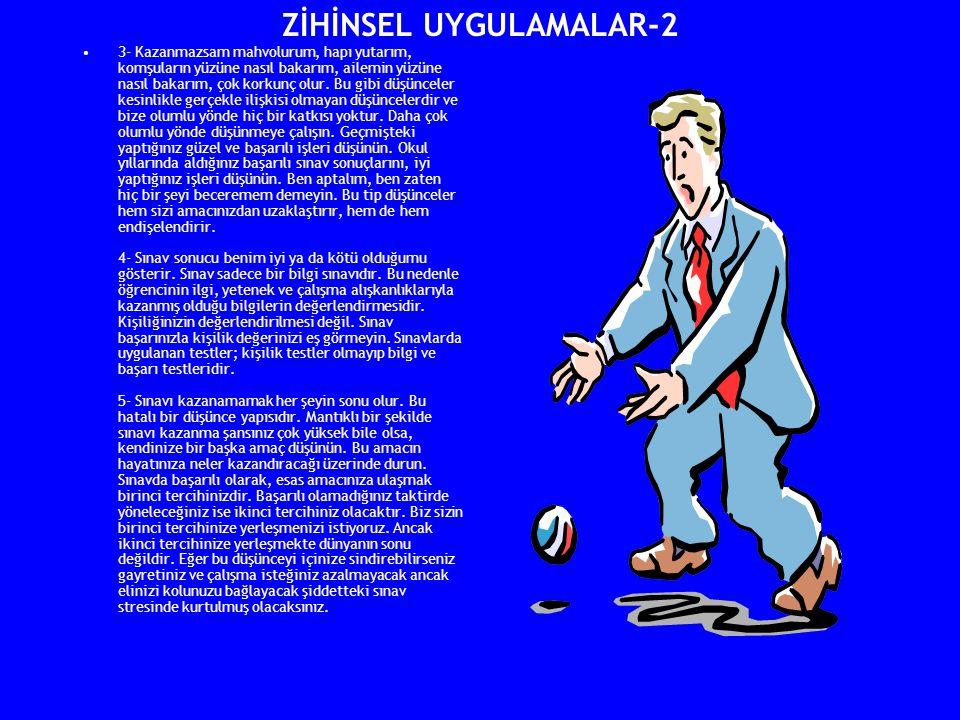 ZİHİNSEL UYGULAMALAR-2