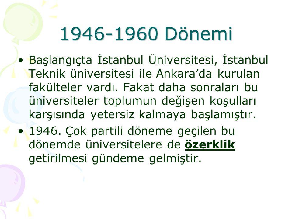 1946-1960 Dönemi