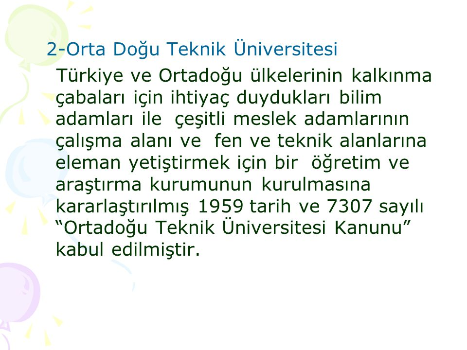 2-Orta Doğu Teknik Üniversitesi