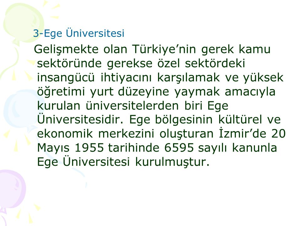 3-Ege Üniversitesi