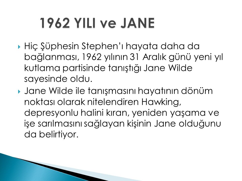 1962 YILI ve JANE