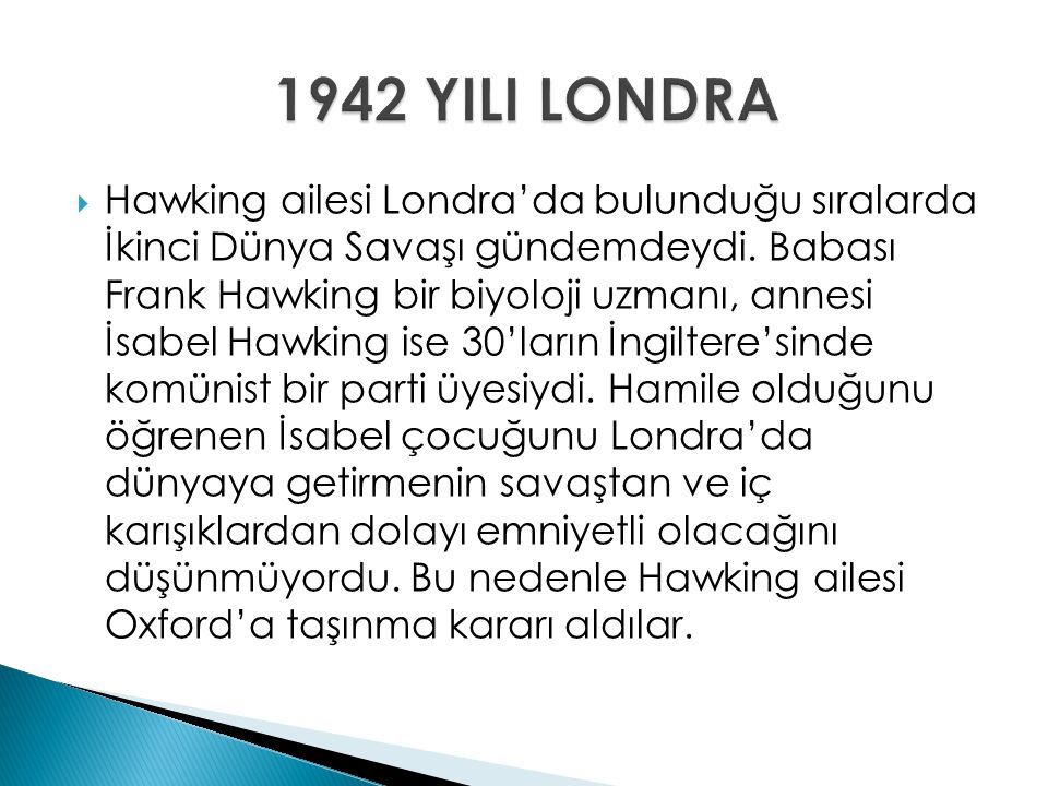 1942 YILI LONDRA