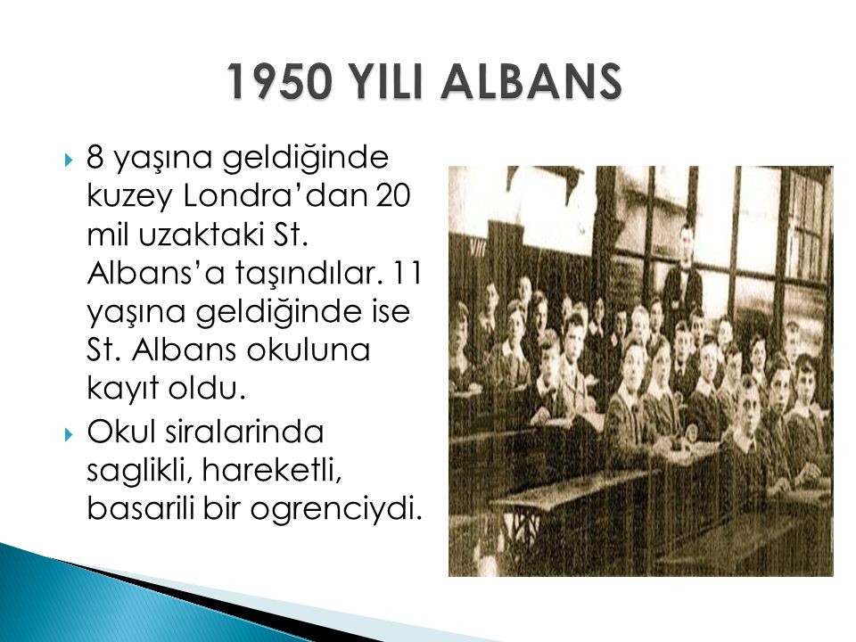 1950 YILI ALBANS
